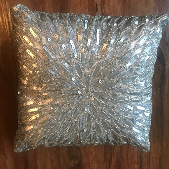 Small Sequin Accent Pillow